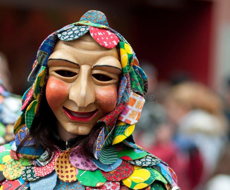 De parade van het masker in Freiburg, Duitsland royalty-vrije stock foto