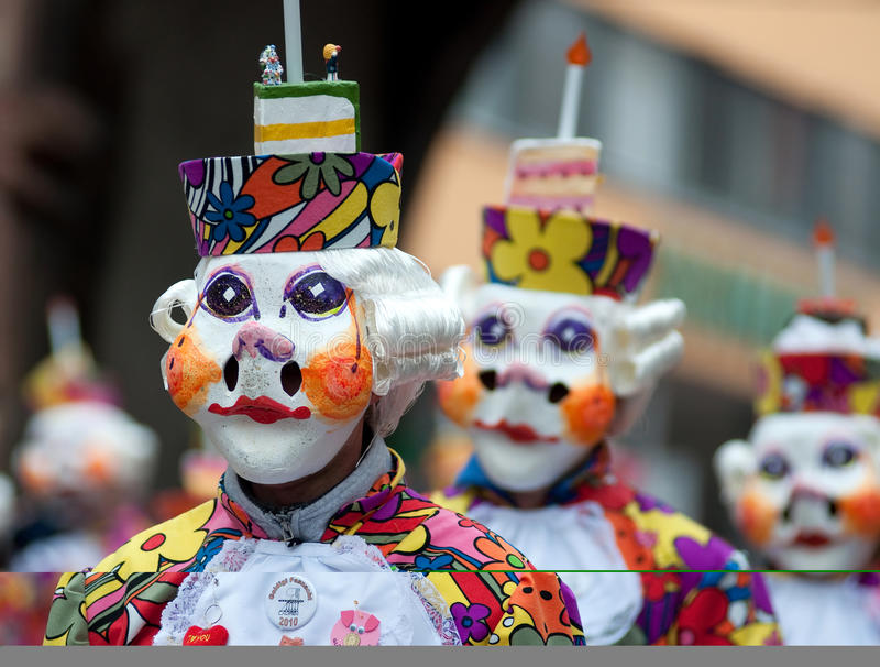 De parade van het masker in Freiburg, Duitsland royalty-vrije stock fotografie