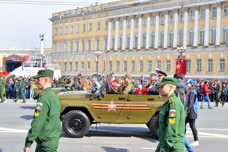De parade van de overwinning in St Petersburg royalty-vrije stock afbeeldingen