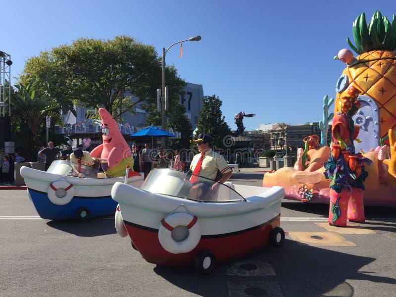 De parade van sponsbob squarepants in Universal Studios, Orlando, FL stock foto's