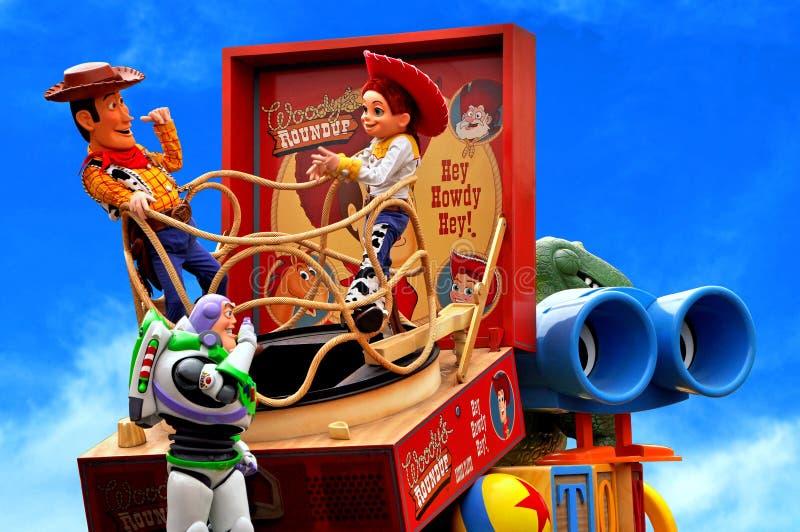 De parade van Toy Story, Disney, Disneyland stock afbeelding