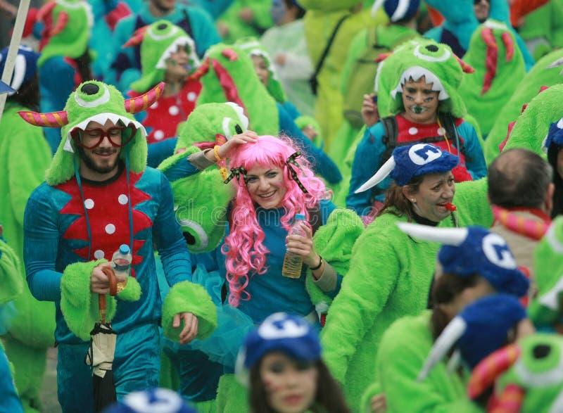 De Parade van Xanthi Carnaval stock afbeeldingen