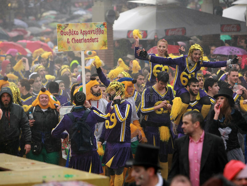 De Parade van Xanthi Carnaval stock foto's