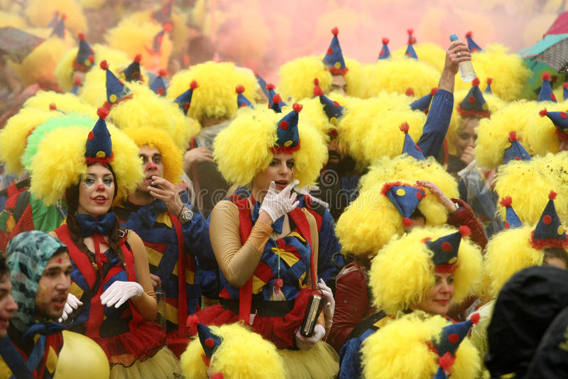 De Parade van Xanthi Carnaval royalty-vrije stock afbeelding