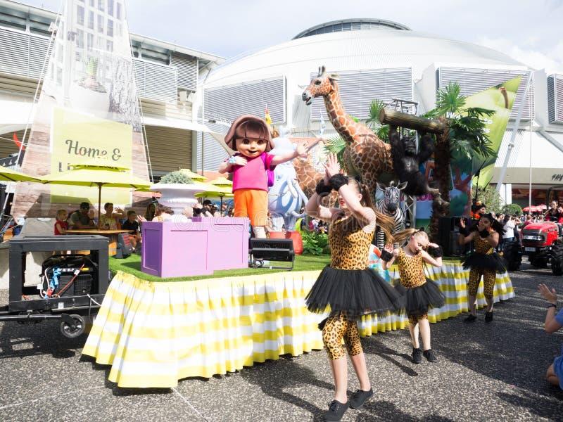 De de paradebeeldverhalen en strippagina in Koninklijk Sydney Easter tonen stock afbeelding