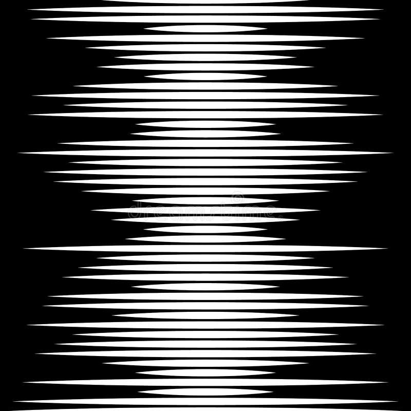 De parallelle geometrische textuur van het rechte lijnen zwart-wit patroon royalty-vrije illustratie