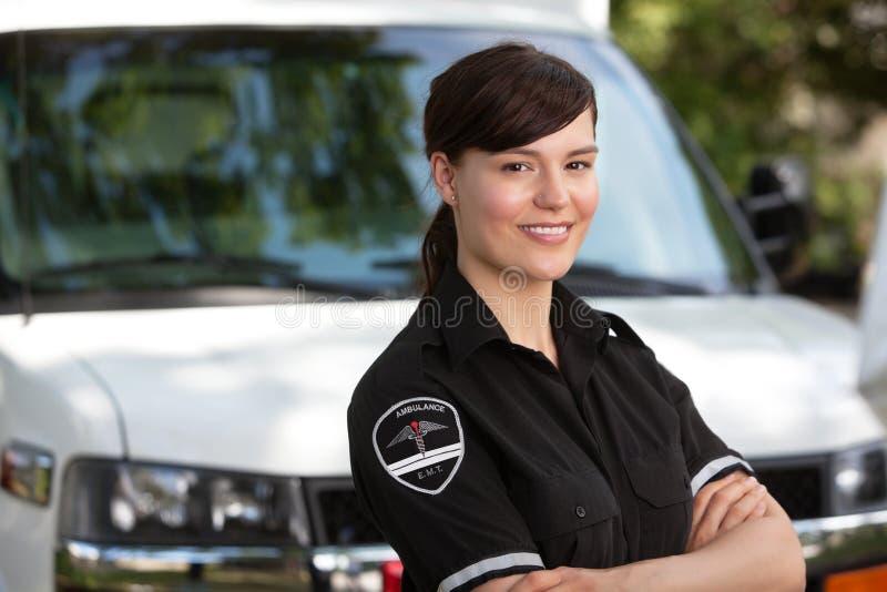 De Paramedicus van de vrouw royalty-vrije stock fotografie