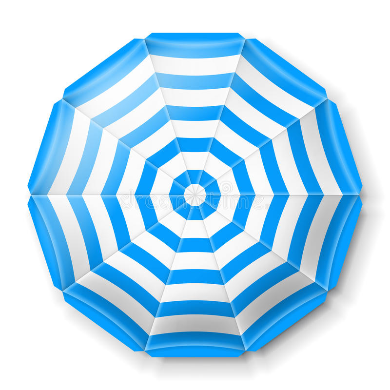 De paraplu hoogste mening van het strand royalty-vrije illustratie