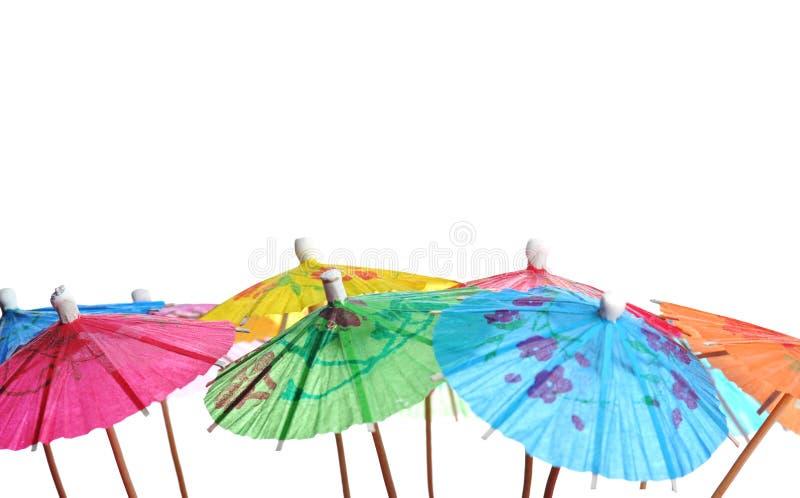 De paraplu's van de cocktail stock afbeelding