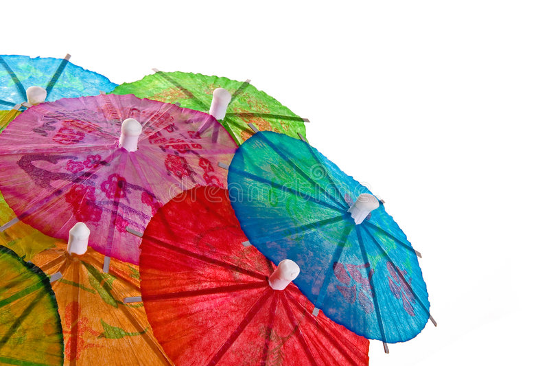 De Paraplu's van de cocktail stock afbeeldingen