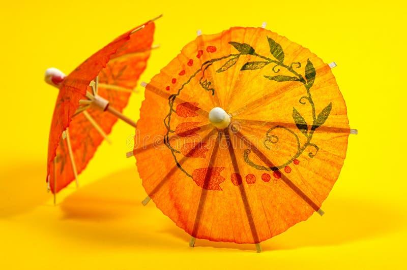 De Paraplu's van de drank stock afbeelding
