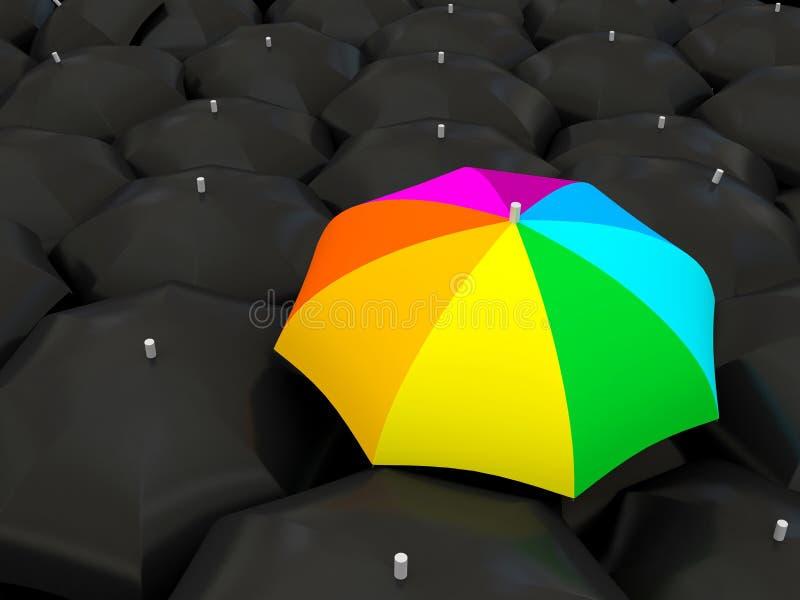 De paraplu van de kleur vector illustratie