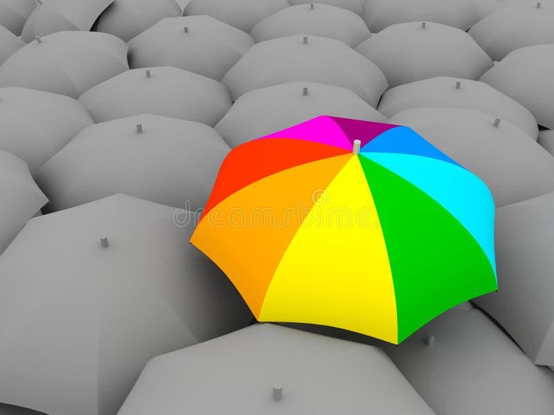 De paraplu van de kleur royalty-vrije illustratie