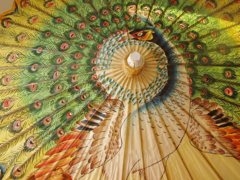 De paraplu van de pauw royalty-vrije stock foto