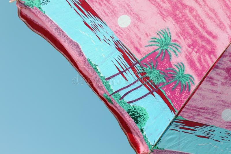 De zomerparaplu royalty-vrije stock afbeelding