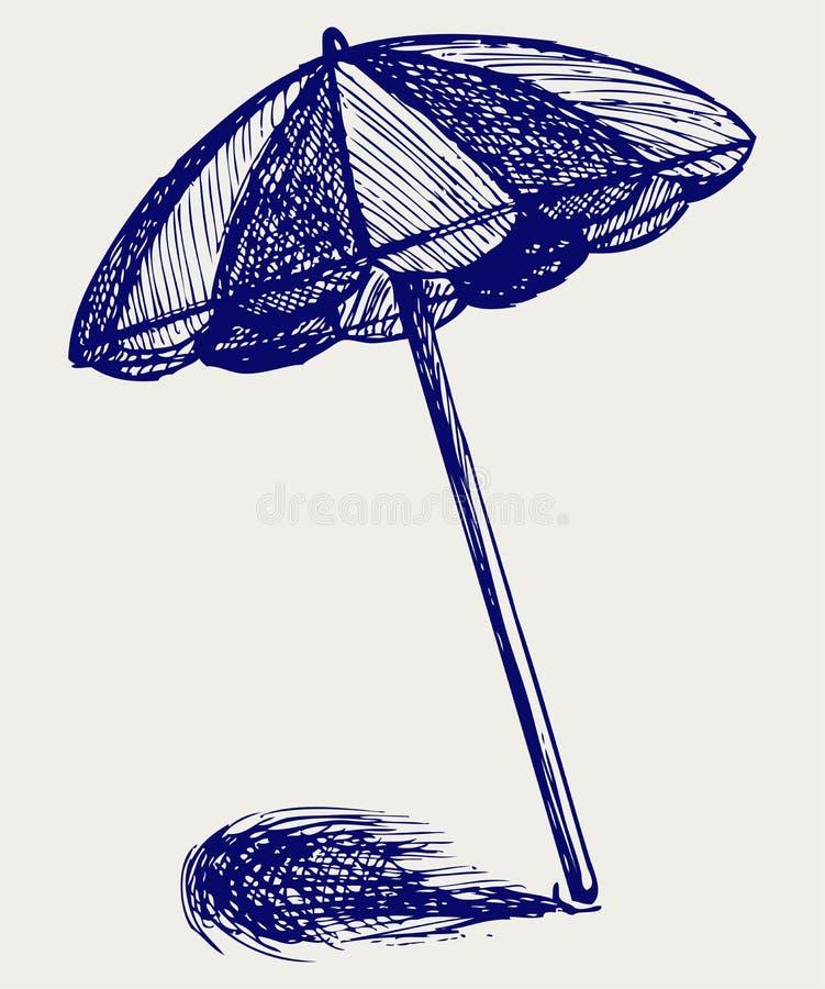 De paraplu van het strand stock illustratie