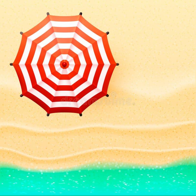 De paraplu vectorillustratie van de strand hoogste mening vector illustratie