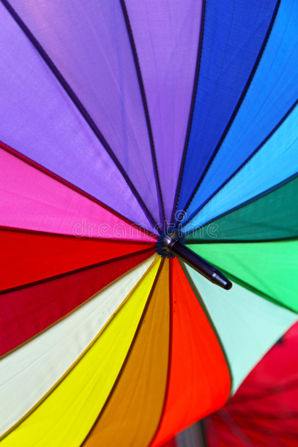 De parasol van de kleur royalty-vrije stock foto's
