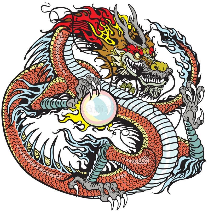 De parel van de draakholding vector illustratie