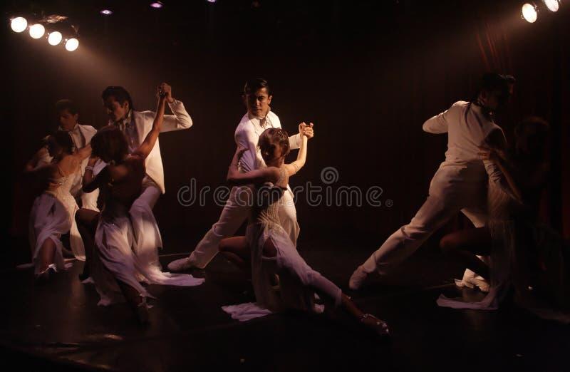De Paren van de tango stock afbeeldingen