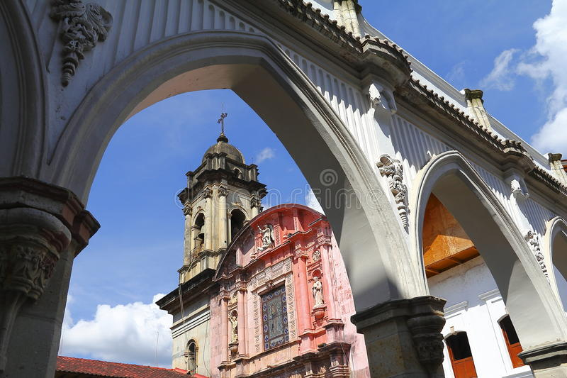 De parochie van San Francisco, Uruapan VII stock foto's