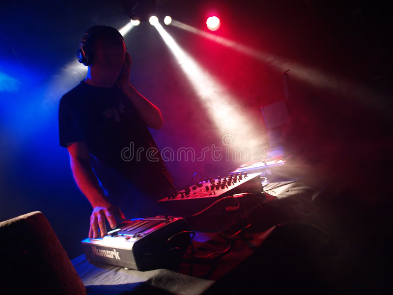 De partij DJ van de dans royalty-vrije stock foto's