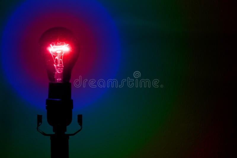 De Partij Lightbulb van de regenboog royalty-vrije stock fotografie