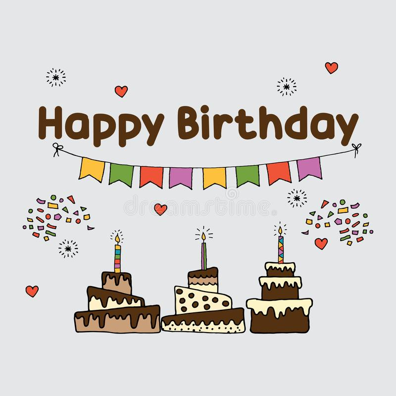De partij plaatst malplaatje voor verjaardag vector illustratie
