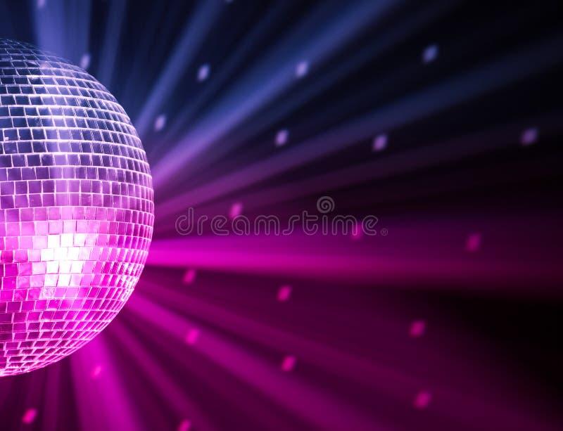 De partij steekt discobal aan stock afbeeldingen