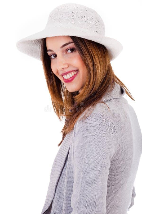 De partij stelt van het jonge model glimlachen stock foto's
