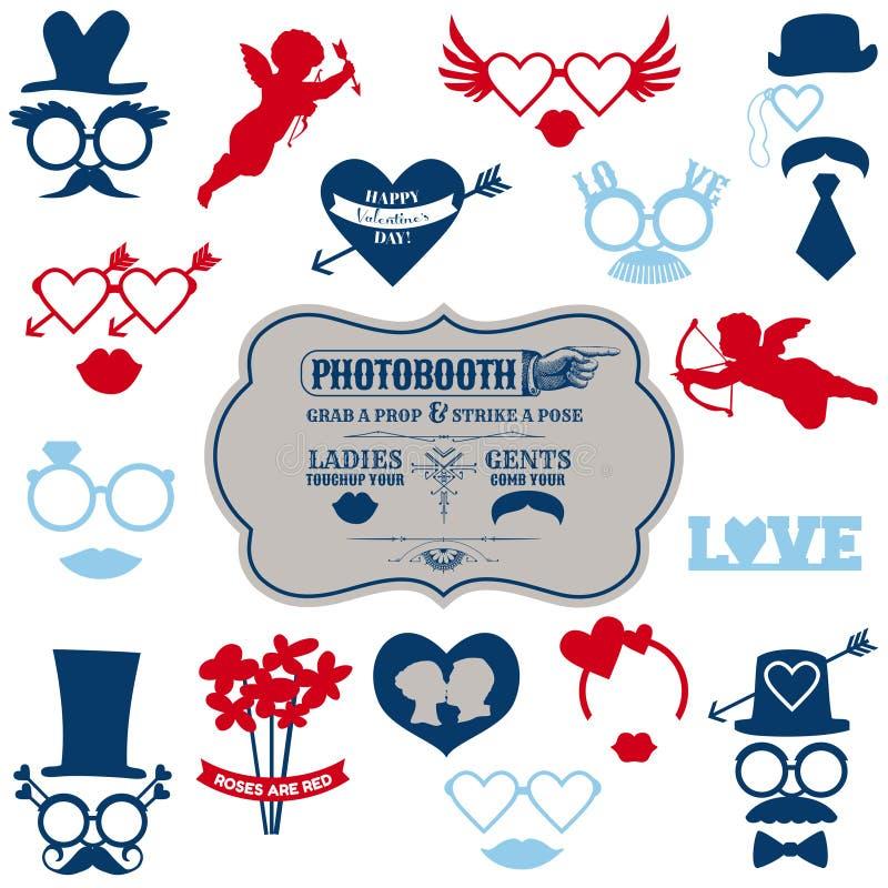 De reeks van de Partij van de Dag van de valentijnskaart stock illustratie