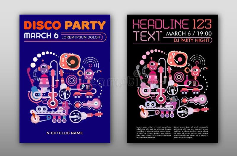 De partij van de disco vector illustratie