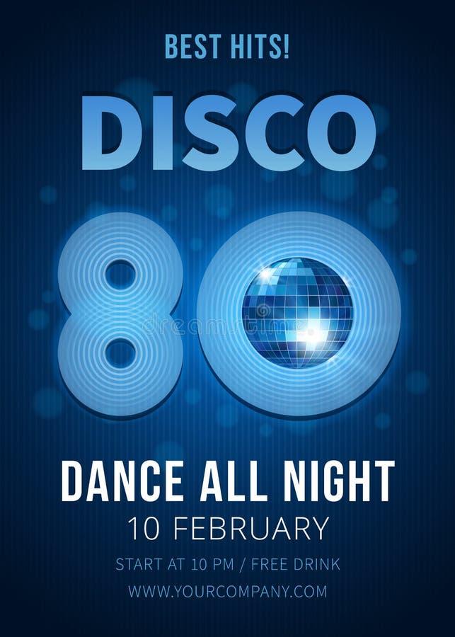 De partij van de disco Beste klappen van de jaren '80 vector illustratie