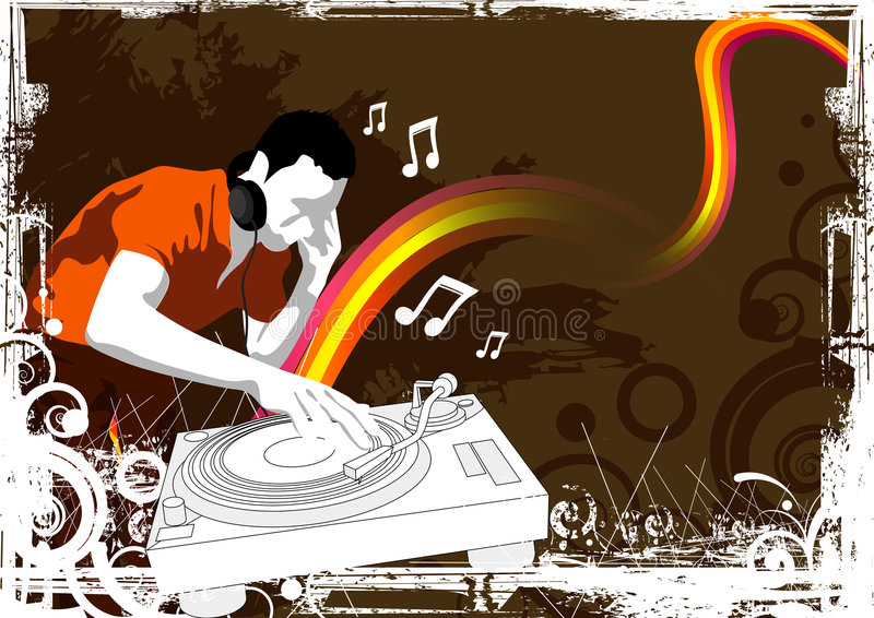 De Partij van de disco slaat royalty-vrije illustratie