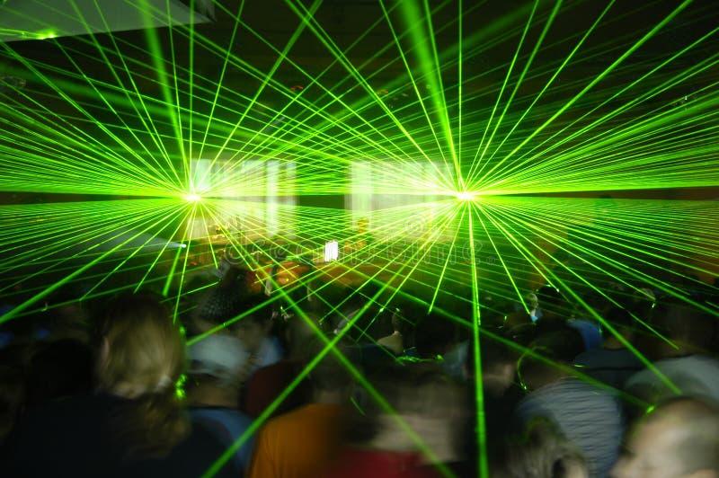 De partij van de laser stock foto
