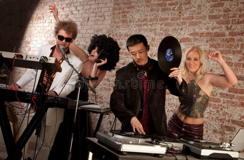 de Partij van de Muziek van de Disco van jaren '70 stock foto's