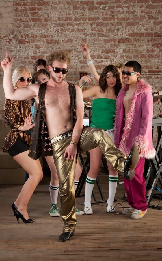 de Partij van de Muziek van de Disco van jaren '70 royalty-vrije stock foto