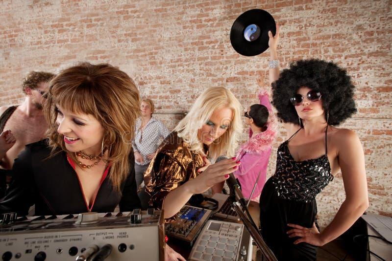 de Partij van de Muziek van de Disco van jaren '70 royalty-vrije stock afbeeldingen
