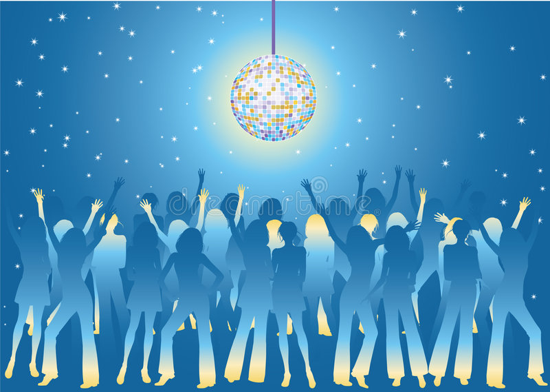 De partij van de nacht royalty-vrije illustratie