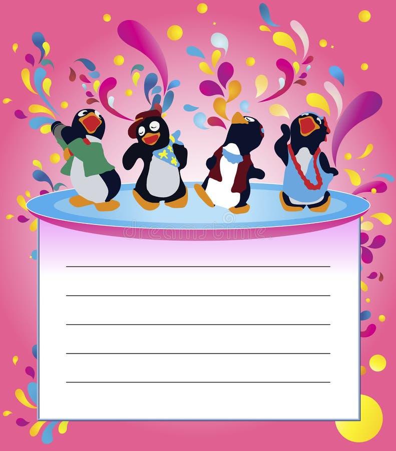 De partij van de pinguïn royalty-vrije stock afbeelding