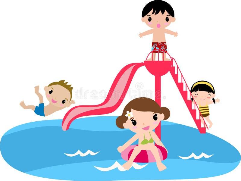 De Partij van de Pool van kinderen royalty-vrije illustratie