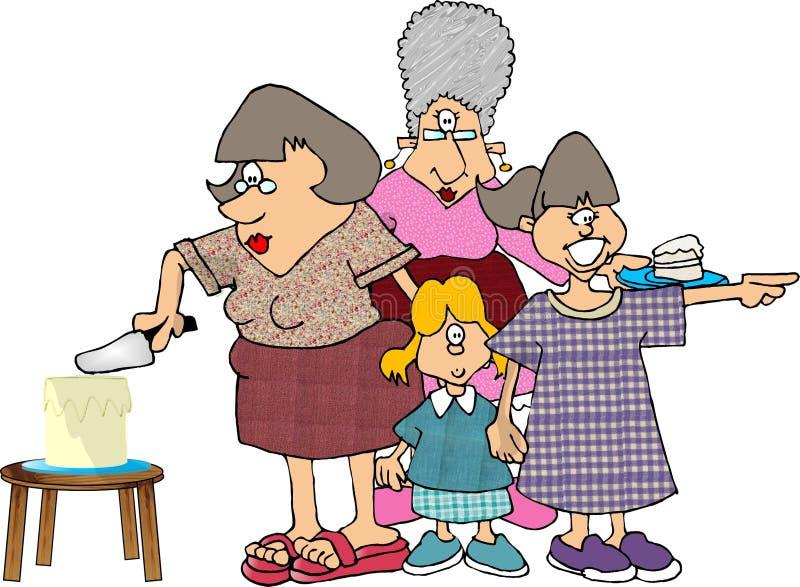 Download De Partij Van De Verjaardag Stock Illustratie - Illustratie bestaande uit vrouw, grappig: 36040