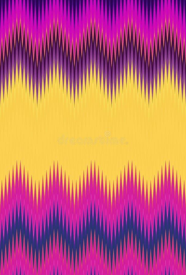 De partij van de discodans Van het de golfpatroon van de chevronzigzag de kunst abstracte tendensen als achtergrond stock illustratie