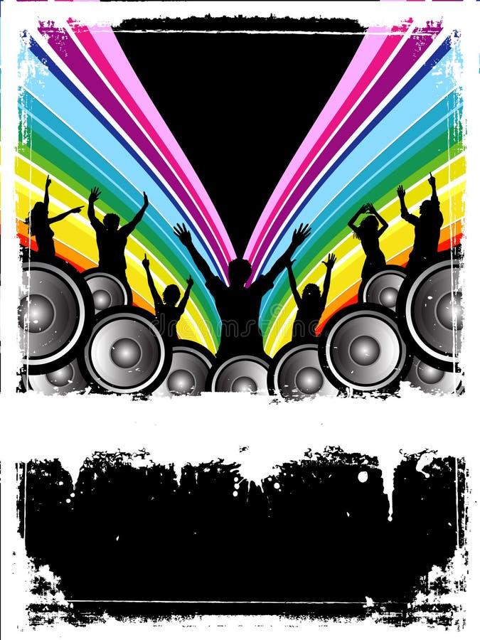 De partij van Grunge royalty-vrije illustratie