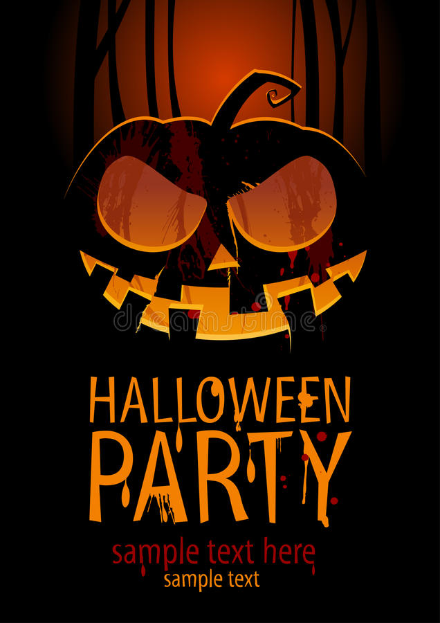 De partij van Halloween. vector illustratie