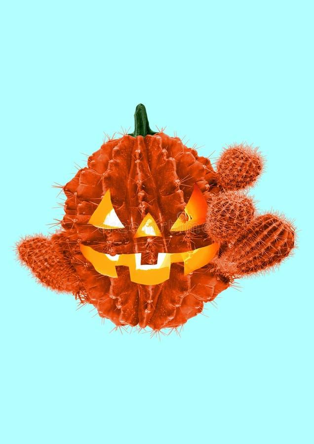 De partij van Halloween Modern ontwerp Eigentijdse kunstcollage royalty-vrije stock afbeeldingen