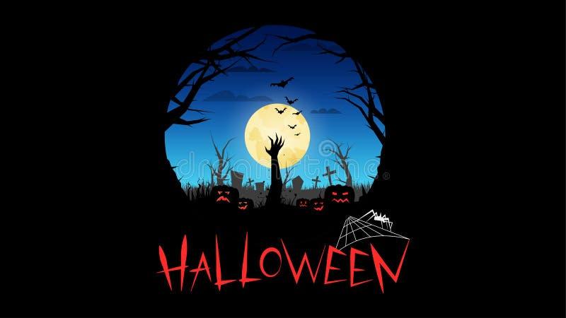 De partij van Halloween Uitnodigingen voor Halloween stock illustratie