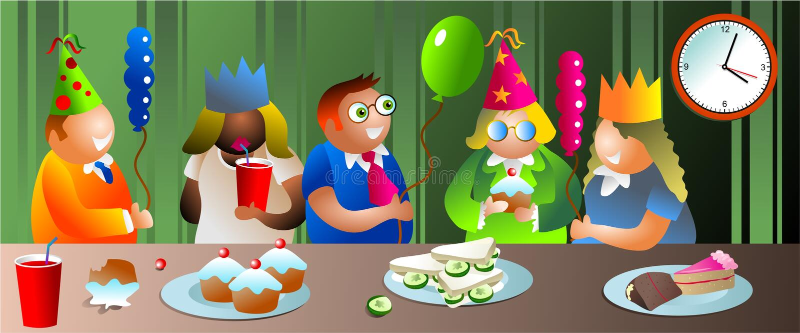 De partij van het bureau vector illustratie