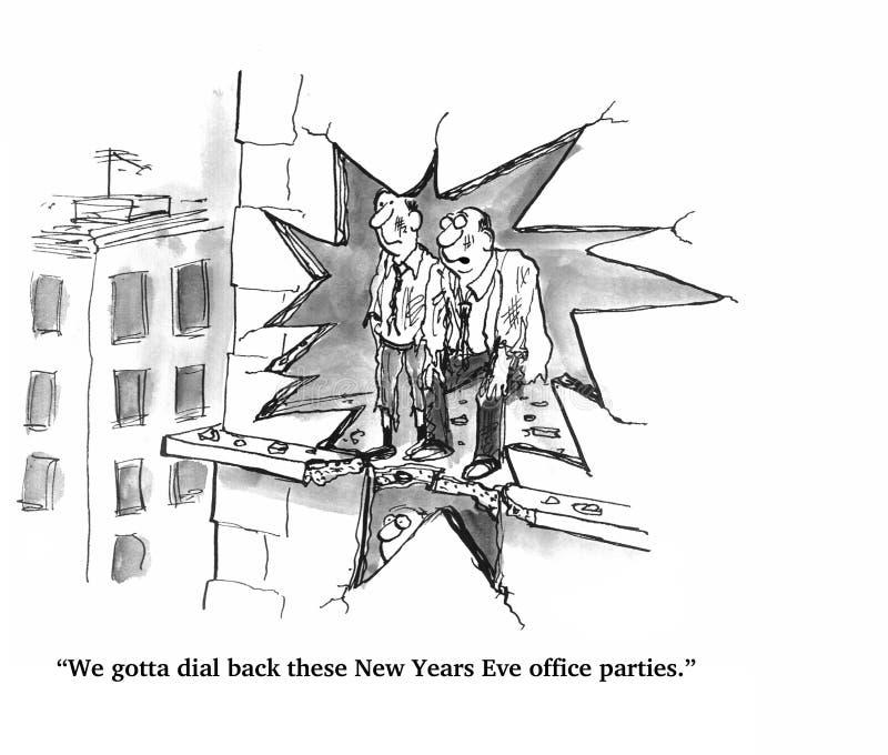 De Partij van het Bureau van de oudejaarsavond stock illustratie
