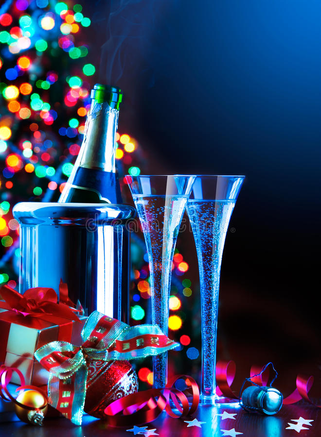 De partij van het Nieuwjaar van de kunst royalty-vrije stock fotografie